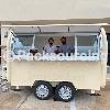 food van mobile food trailer hot sale round food cart for sale